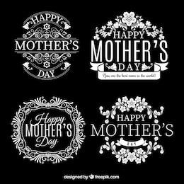 Emblemas retros para o dia das mães