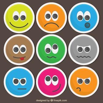 Emoticons engraçados coloridos
