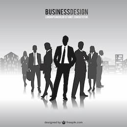 Empresários livres silhuetas vetor