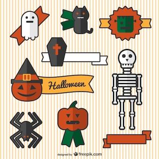 Enfeites de Halloween dos desenhos animados