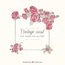 Entregue o cartão do vintage pintado