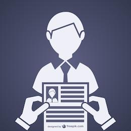 Entrevista de emprego vector