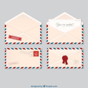 Envelopes de correio aéreo