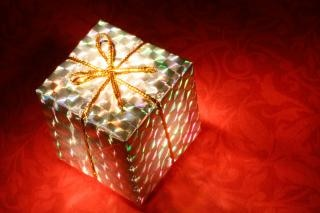Envoltório caixa brilhante presente