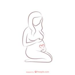 Esboço da mulher gravida