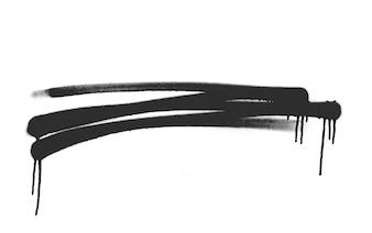 Esboço forma splat pulverização texturizados