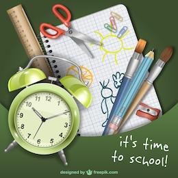 Escola a tempo vector