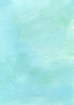 Escova de tinta verde fundo de papel com textura de aguarela