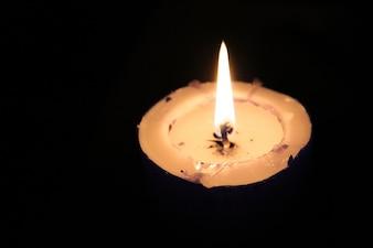 Escuro amor azul romântico velas