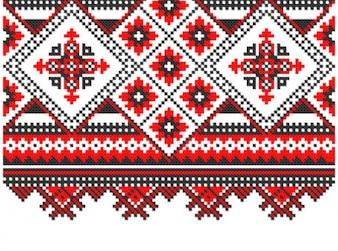 Eslavo tricô padrões background vector set