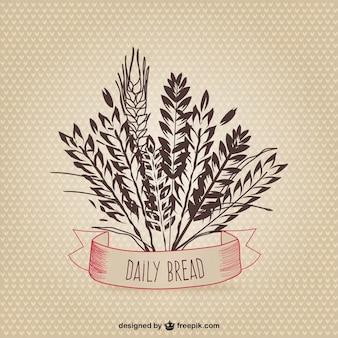 Espigas de trigo esboçado