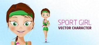 esporte caráter vetor menina