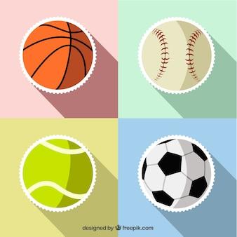 Esporte da bola adesivos