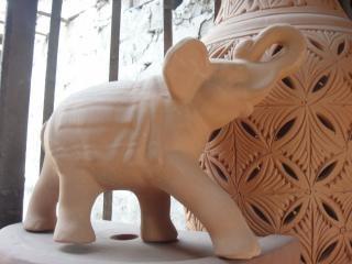 Estátua de elefante, design