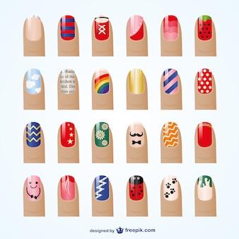 Estilos de manicure vector