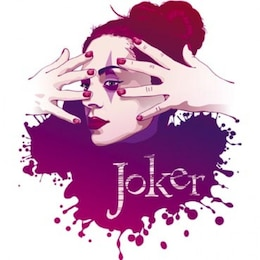 estoque ilustração vetorial joker menina