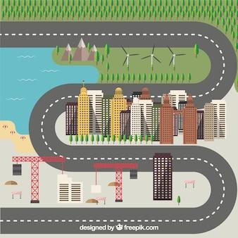 Estrada em torno da cidade