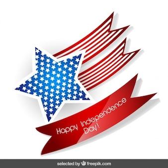 Estrela com fitas emblema dia da independência