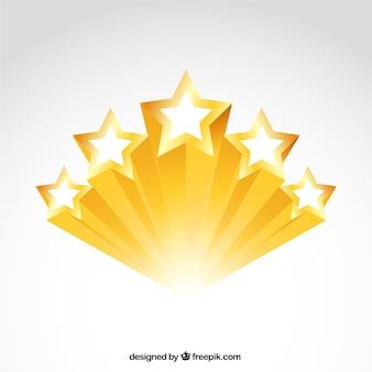 Estrelas douradas brilhantes