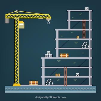 estrutura de construção