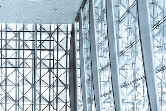 Estrutura de metal e vidro