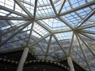 estrutura de telhado de vidro, casa