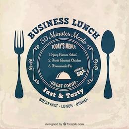 Etiqueta almoço de negócios