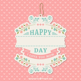 Etiqueta do dia das mães Encantadores