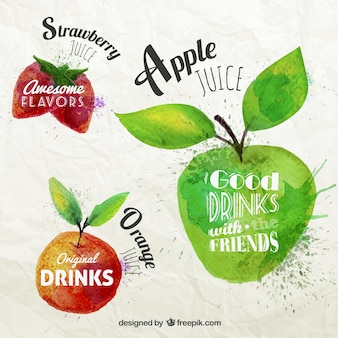 Etiqueta do fruto tipográfico