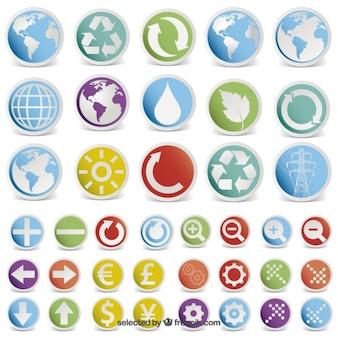 Etiquetas com ícones