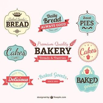 Etiquetas da padaria do vintage