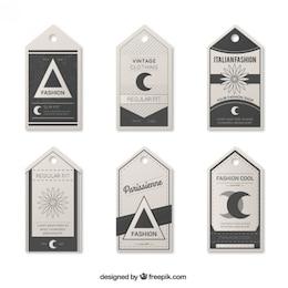 Etiquetas de roupas vintage