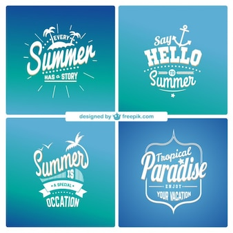 Etiquetas de verão
