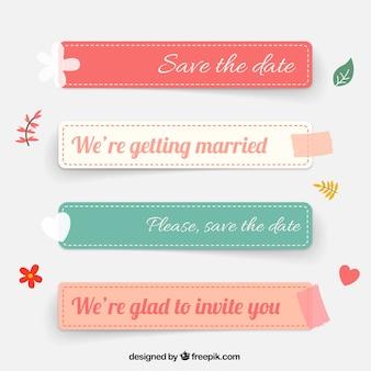 Etiquetas do casamento