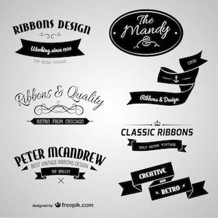 Etiquetas retros de branding