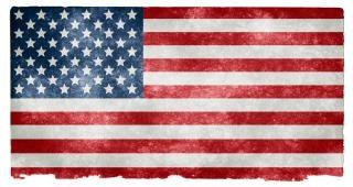EUA estoque bandeira do grunge