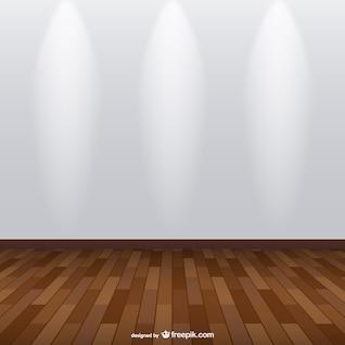 Exposição holofotes quarto vector