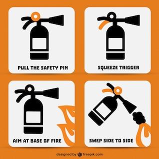 Extintor de incêndio conjunto de vetores
