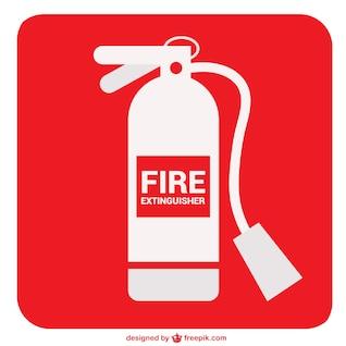 Extintor de incêndio sinal vetor