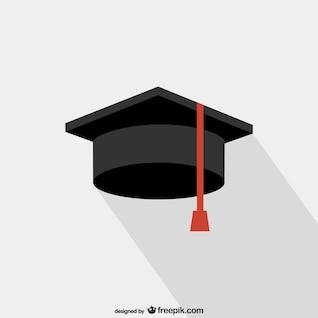 Faculdade graduação chapéu vetor