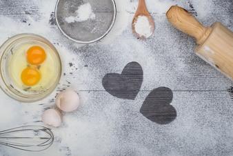 Fazendo uma sobremesa na cozinha