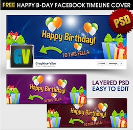 feliz aniversário facebook cronograma cobertura psd