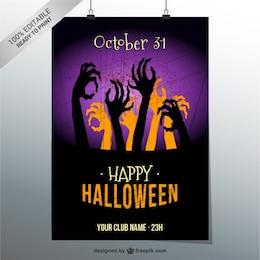 Feliz dia das bruxas modelo de cartaz