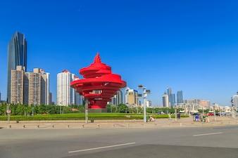 Férias china arquitetura cityscape mar leste