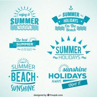 Férias de verão emblemas
