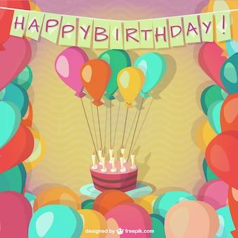 Festa de aniversário feliz com balões