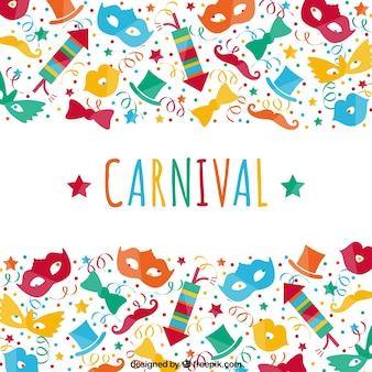 Festa de carnaval colorido