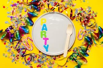 Festival brilhante confetti ano top