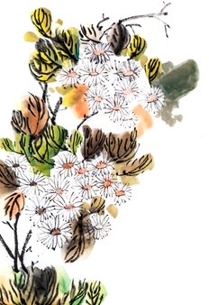 Festival fundo flor botânica tradicional branco