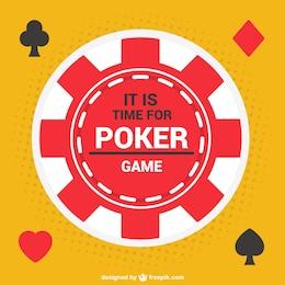Ficha de poker vector